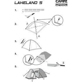 CAMPZ Lakeland 5P Tienda de Campaña, beige
